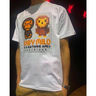 アベイシングエイプ(A BATHING APE)のBAPE APE BABY MILO X NANO BLOCK TEE  ベイプ(Tシャツ/カットソー(半袖/袖なし))