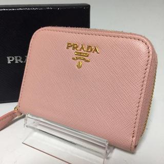 PRADA - PRADA ピンク サフィアーノ コインケース メタル レザー カード プラダ