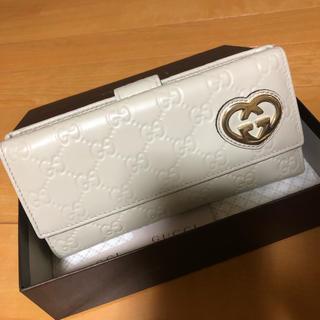 グッチ(Gucci)の正規品 美品!GUCCI シマレザー 長財布(財布)