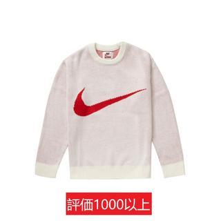 Supreme - Supreme Nike Swoosh Sweater 白M