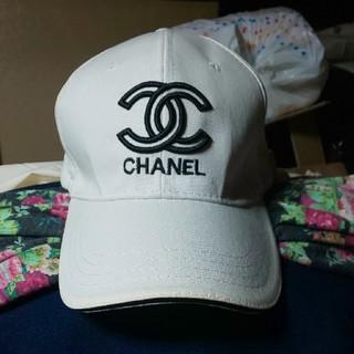 CHANEL - シャネルキャップ◆帽子◆白×黒◆