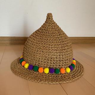 しまむら - 麦わら帽子 とんがり帽子 新品未使用 48cm