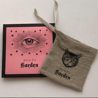 グッチ(Gucci)の新品 未使用 GUCCI Garden リネン ミニポーチ 猫柄(ポーチ)