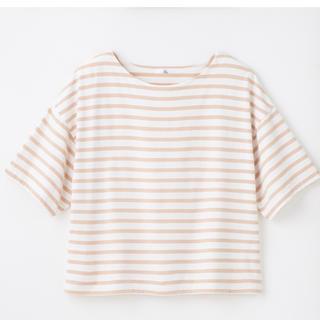 しまむら - しまむら プチプラのあや ボーダーTシャツ XLサイズ