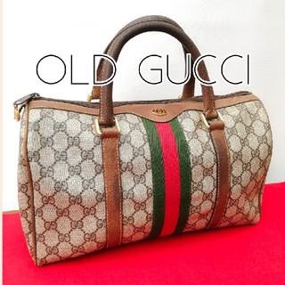 グッチ(Gucci)の良品 オールドグッチ シェリーライン ビンテージミニボストンバッグ ハンドバッグ(ボストンバッグ)