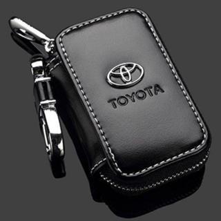 TOYOTA トヨタ スマートキー メッキ エンブレムキーケース 黒 革