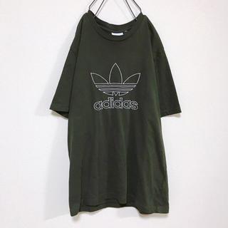 アディダス(adidas)の希少 古着 adidas originals  ビック ロゴ  刺繍 Tシャツ(Tシャツ/カットソー(半袖/袖なし))