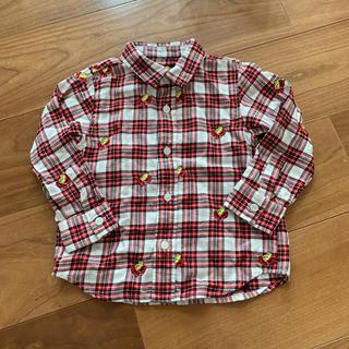 HYSTERIC MINI - 刺繍フェイスミニ チェックシャツ
