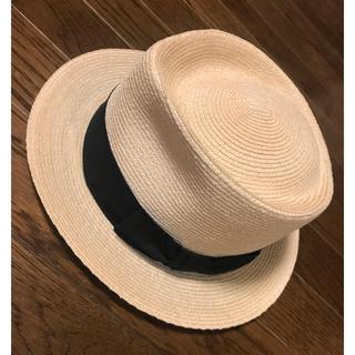 フォクシー(FOXEY)の 美品 FOXEY フォクシー  / GATSBY ハット  リボン 帽子(麦わら帽子/ストローハット)