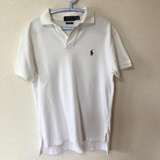 ポロラルフローレン(POLO RALPH LAUREN)の大人気ラルフローレンの白ポロシャツ (メンズ XS)(ポロシャツ)