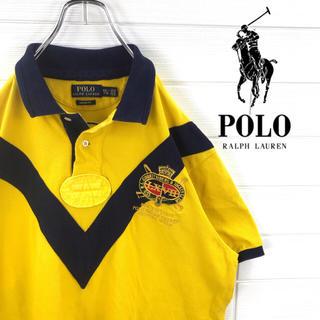 ポロラルフローレン(POLO RALPH LAUREN)の激レア ポロシャツ ラルフローレン バックビッグナンバー 刺繍ロゴ 90s(ポロシャツ)
