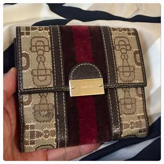 グッチ(Gucci)の【美品】GUCCI(グッチ)折り財布(財布)