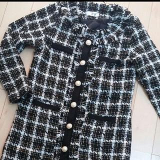ツイードコート ブラック