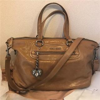 ミュウミュウ(miumiu)の美品 約23万円 miumiu 2wayビシューレザーバッグ(ショルダーバッグ)
