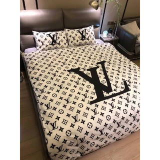 ルイヴィトン(LOUIS VUITTON)の寝具カバ 【布団カバー  4点セット】枕カバー 掛け布団カバー (シーツ/カバー)