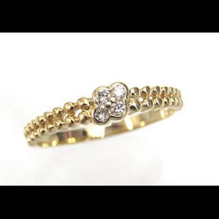 ミツコシ(三越)の[三越] k18 ダイヤモンド 0.09ct お花 フラワー リング 11.5号(リング(指輪))