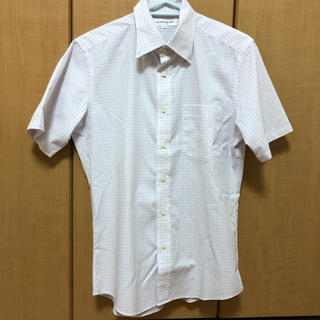 ユニクロ(UNIQLO)のUNIQLO パープル チェックシャツ ドット柄(シャツ)