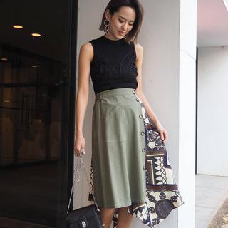 MURUA - MURUA スカーフドッキングスカート