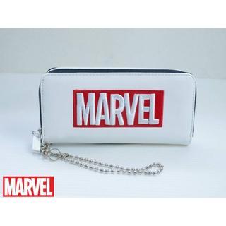 マーベル(MARVEL)のマーベル 長財布 立体刺繍ボックスロゴ ラウンドファスナー(財布)