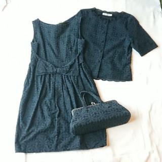 ジェーンマープル(JaneMarple)のジェーンマープル ドレス、ジャケット、bag セット(ミニワンピース)
