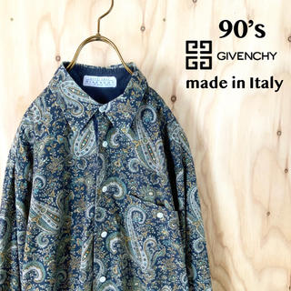 GIVENCHY - 90's GIVENCHY イタリア製 総柄 ペイズリー柄 デザインシャツ