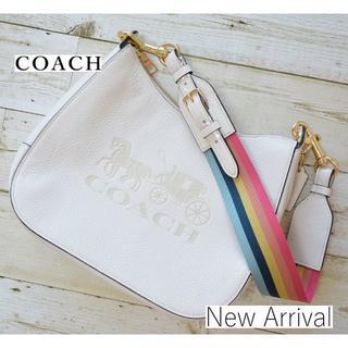 COACH - 【新品】 新作 コーチ 肩掛けバッグ ホーボーバッグ ホワイト