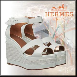エルメス(Hermes)のHERMES エスパドリーユ 38 サンダル(サンダル)