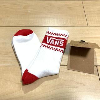 VANS - VANS  ソックス 靴下 White ×  red