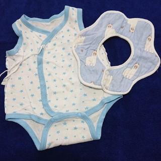 西松屋 - 赤ちゃん肌着と円形よだれ掛け👶セット