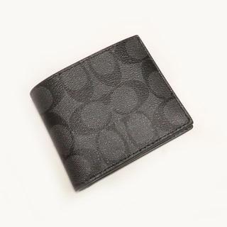 コーチ(COACH)の★新品★コーチ★ID BILL SIG PVC/二つ折り財布(Charcoal)(折り財布)