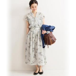 IENA - 19SS完売新品☆IENA☆36/ストライプフラワースキッパーシャツワンピース