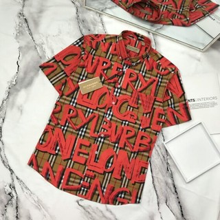 BURBERRY - Burberry 夏服 メンズシャツ 高品質 カジュアル