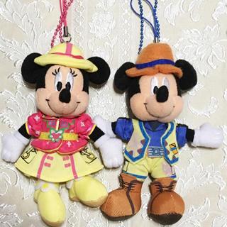 Disney - 激レア★配送事故補償付★新品未使用☆トレイルミッキーとミニーぬいぐるみストラップ