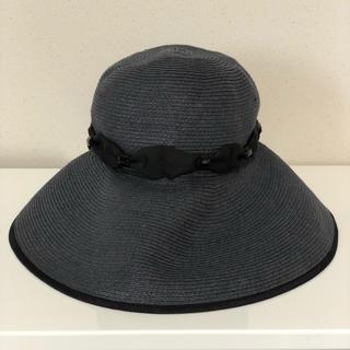 トッカ(TOCCA)のTOCCA 麦わら 帽子 ネイビー RISAKO Athena New York(麦わら帽子/ストローハット)