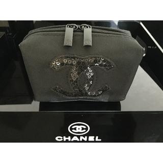 CHANEL - CHANEL   スパンコールポーチ   未使用ワケあり品