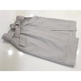Apuweiser-riche - アプワイザーリッシェ  リボン付きハイウエストタイトスカート 2 ライトグレー