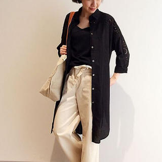 BEARDSLEY - ビアズリー  刺繍 ロングシャツ