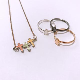 クレアーズ(claire's)の十字架 セット ☆ リング & ネックレス(リング(指輪))