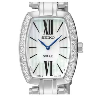 SEIKO - 新品 海外限定 セイコー 18石ダイヤ MOPシェル レディース ソーラー腕時計