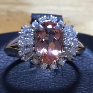 シェリーカラー✨インペリアルトパーズ&ダイヤ リング 指輪 約12号 簡易鑑別付(リング(指輪))