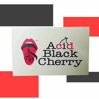 Acid black cherry 風 ステッカー ラミネート加工なし