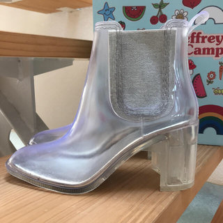 ジェフリーキャンベル(JEFFREY CAMPBELL)の♡sea様専用 クリアブーツ&クリアバッグ(レインブーツ/長靴)