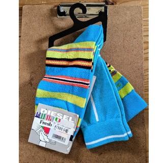 ディーゼル(DIESEL)の新品未使用 ディーゼル DIESEL 靴下2足組 Lサイズ イタリア製(ソックス)