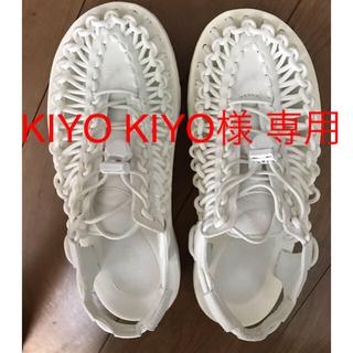 KEEN - 値下げ KEEN UNEEK ホワイト サンダル 24.5