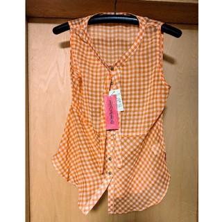 アニタアレンバーグ(ANITA ARENBERG)の新品未使用 ANITA ARENBERG ノースリーブシャツ レディースLサイズ(カットソー(半袖/袖なし))