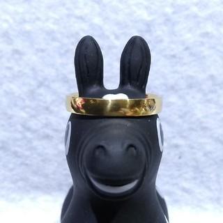ステンレスゴールドの指輪25号と60cmのステンレスゴールドのネックレス付き(リング(指輪))