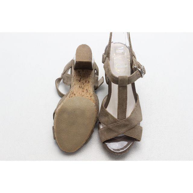 WASHINGTON 本革スエードサンダル(22cm)超美品 レディースの靴/シューズ(サンダル)の商品写真