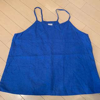 アーバンリサーチ(URBAN RESEARCH)のアーバンリサーチ リネン 美品 青(シャツ/ブラウス(半袖/袖なし))