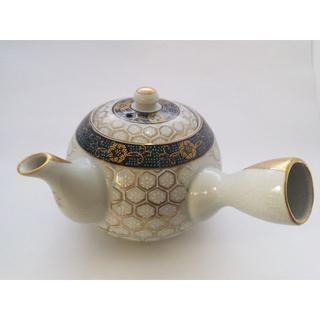 蓋付き茶器(湯飲み5客セット)(亀甲文)/九谷焼(食器)