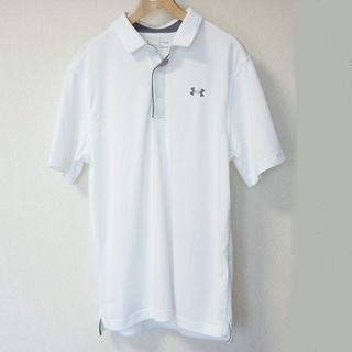 アンダーアーマー(UNDER ARMOUR)の大きいサイズ新品XXL★アンダーアーマー 白ヒートギアポロシャツ(ポロシャツ)